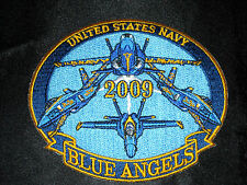 US NAVY USN OFFICIAL BLUE ANGELS DEMONSTRATION DEMO TEAM 2009 WORLD TOUR PATCH
