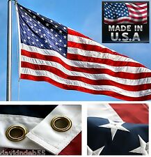 *Usa Made 3x5 foot Us Embroidered&Sewn 2-Sided Heavy Duty 300D Nylon Flag Banner