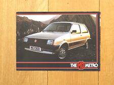 MG 1982 Re-launch Set of Original Metro Brochure and Metro/maestro Poster