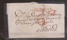 1837 Prefilatelia carta manuscrita a Madrid desde Burgos