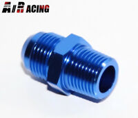 Black Aluminum Male 10 AN to AN10 Flare Pipe Hose Union Coupler Fitting Adapter with 1//8 NPT Side Pressure Port