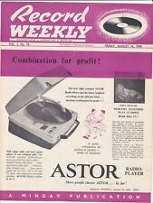 Record Weekly publication Vol 1 No.18 August 1959
