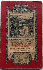 Ordnance Survey MAP Popular Series LAND'S END & LIZARD 1919 sheet:146