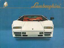 LAMBORGHINI COUNTACH LP500 S 1982-1985 UK mercato multilingue FOLDOUT opuscolo