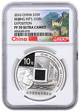 2016 China 30 g Silver Beijing Coin Expo. Commem ¥10 Coin NGC PF70 UC SKU47317