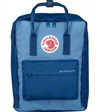 New Women Men Fjallraven Kanken 23495 Backpack (#539-508 Lake Blue-Air Blue)