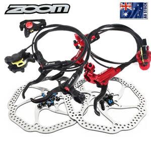 ZOOM Hydraulic Disc Brake MTB Bicycle Disc Brake 160mm/203mm 6 Bolts Rotor AU