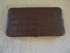 "Womens  Clutch Wallet Case Purpleish Bronze Color "" BEAUTIFUL ITEM """