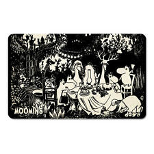 Moumines noir & blanc fête de jardin petit déjeuner planche à découper formica Moomintroll