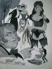VINTAGE Men's PULP Magazine Art..20'' X 15'' IN..'' WHITE SLAVERS ! ''..PAINTING
