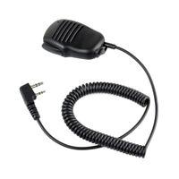 2 Pines Mini PTT Microfono de altavoz Accesorios para walkie talkie Baofeng U4F3