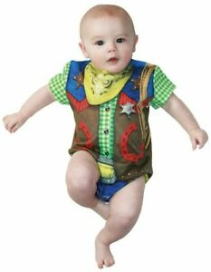 Cowboy Baby Boys Costume Wild West Romper Fancy Dress Outfit 6 12 18 Months