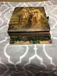 Antique Victorian Music Box Celluloid Photo Album