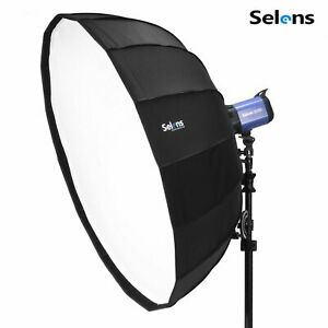 "Selens 105cm 41"" Folding Umbrella Softbox Studio Lighting Flash Bowens Mount"