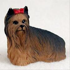 Yorkshire Terrier Show Cut Dog Tiny One Miniature Small Hand Painted Figurine