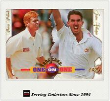 1997/98  Select Cricket Trading Cards BOX CARD B2: S.Pollock/J.Gillespie