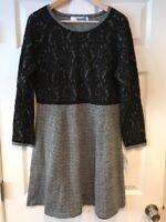 "Sparrow Anthropologie Black & White Lace ""Farah"" Dress, Size Large, New! $158"