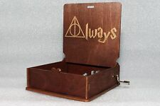 Always Severus Snape - Harry Potter Music Box - Hand Crank Engraved Wooden Box