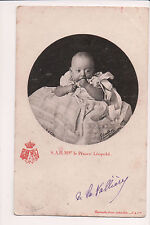 Vintage Postcard Prince Leopold of Belgium, Duke of Brabant, Count of Hainaut