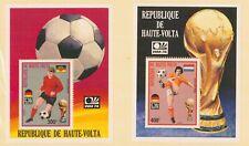 MayfairStamps 1974 Burkina Faso C187-188 World Cup Soccer Souvenir Sheet Mint Ne
