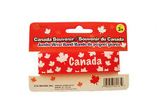 CANADA RED MAPLE LEAF SILICONE WIDE BRACELET WRISTBAND .. NEW