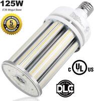 125W LED Corn Light High Bay Bulb 18,125Lm 6000K Bright White E39 Mogul Base DLC