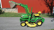 "NICE JOHN DEERE X585 4x4 GARDEN TRACTOR W/ 62"" MOWER DECK & LOADER FUEL INJECTED"