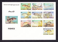 Bahrain Fishes Large First Day Cover FDC FDI 1985 Fish Middle East