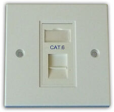 1 Way Single LAN Cat6 RJ45 Data Gigabit Ethernet Network Faceplate & Module