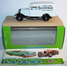 ELIGOR FORD V8 CAMIONNETTE 1934 BLANC MIROR CIRAGE CREME LION NOIR REF 1505 BOX1