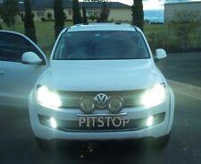 VW AMAROK 2009-2014 fog lamp lights LED DRL Daytime running light chrome rim