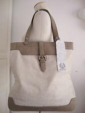 BELSTAFF Damen Exclusive Shopper Tasche Schultertasche Leder/Canvas NEU ETIKETT