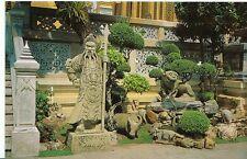 Thailand Postcard - Chinese Style Stone Statue at Wat Phra Kaeo, Bangkok  ZZ115