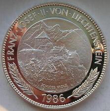 Liechtenstein 1986 Vaduz Castle 5oz 10 Taler Silver Coin,Proof