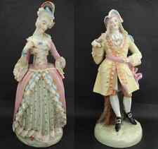 Antique Couple JACOB PETIT Lady and Gentleman Figures Signed