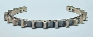 KING BABY STUDIO Sterling Silver Moto Gear Cuff Bracelet RARE Sold Out