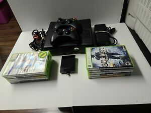 Xbox 360 S 250GB Bundle With 10 Games, 2 Wireless Controller Black Ops.. Tested