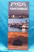 PSA Airline Timetable - June 16, 1982