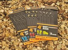 "Guru QM1 Ready-Tied 4"" Rigs With Bait Bands"