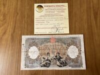 REPUBBLICA SOCIALE BANCONOTA LIRE 1000 REGINE DEL MARE BI L'AQUILA 8 10 1943 R3