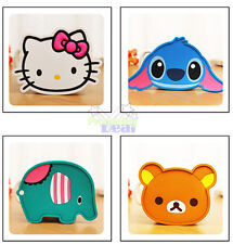 Cute 4pcs Cartoon Silicone Coffee Coaster Beer Cup Glass Beverage Holder Pad Mat