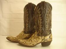 Mens sz 9 D M Justin Boots USA Made VTG brown rattlesnake python snakeskin snake