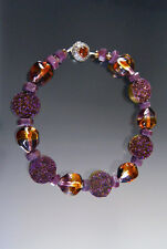 NEW SALE - BESS HEITNER RUBY WINE DRUZY AMBER VENETIAN COLLAR - ONLY ONE