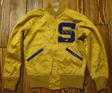 Vintage 50's-60's Gold STATE Satin Sateen Cheerleader Letter Jacket Coat Size 36