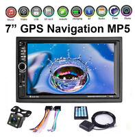 7'' Navigation 2Din Stereo GPS Car Radio DVD MP5 Head Unit Mirror Link Bluetooth