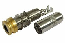 """Switchcraft Mono/Stereo Acoustic End Pin 1/4"""" Output Jack - Gold"""