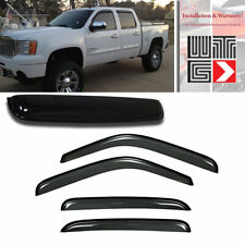 Window + Sunroof 5pc Visor Vent Shade Guard Smoke For 2007-2013 Chevy Avalanche