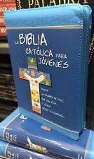Biblia Catolica Para Jovenes MEDIANA Con Protector De Cierre Y INDICE  MANUAL