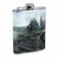 Washington D.C. D8 Flask 8oz Stainless Steel Hip Drinking Whiskey Monuments