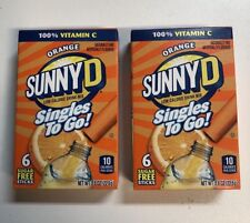 Orange Sunny D Singles to go! 12 Packs 2 Boxes -Sugar Free - Vitamin C